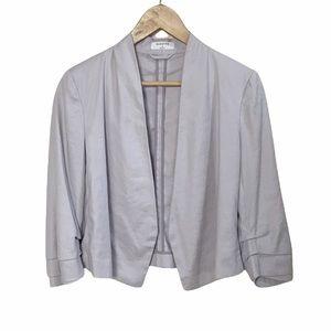 Aritzia Babaton Power short linen blazer in grey size 2/two